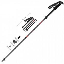 Kalnų slidinėjimo lazdos GABEL Black/Red 100-130cm