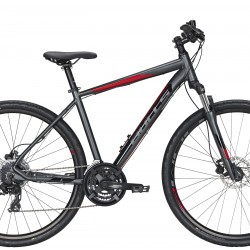 """Dviratis 28"""" Crossbike pilkas matinis"""