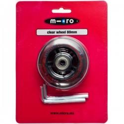 Micro ratukas skaidrus 80 mm